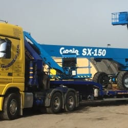 low loader truck delivery access equipment