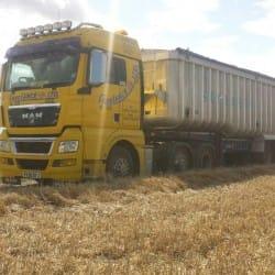 haulage truck in field