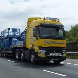 scissor lift and boom lift haulage