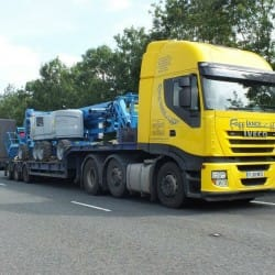 delivering access equipment - specialist haulage