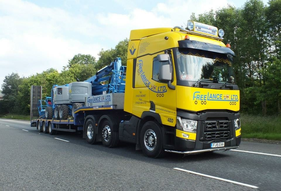 low loader truck
