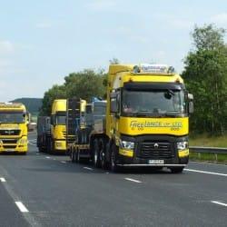 three freelance haulage hire trucks
