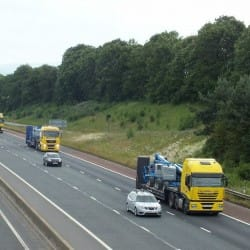 haulage truck convoy
