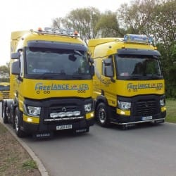 fleet of specialist haulage trucks