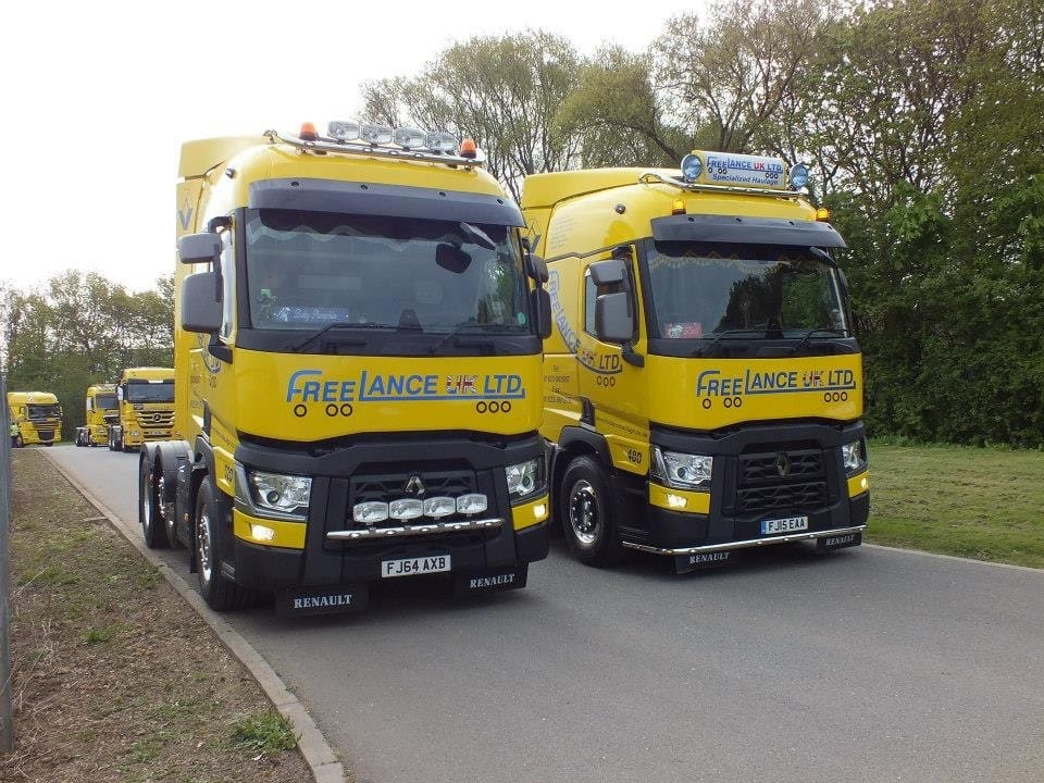 fleet of specialist haulage trucks